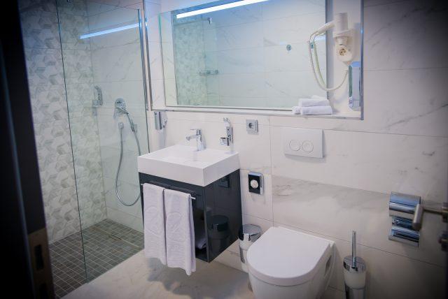 Hotel-Boardinghouse-Kreis-Residenz-Muenchen Bad Dusche