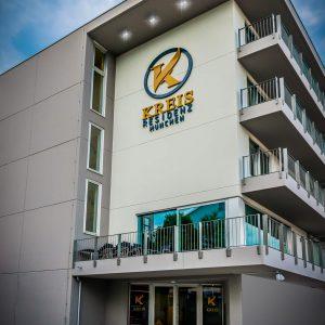 Hotel-Boardinghouse-Kreis-Residenz-Muenchen Fassade Balkon