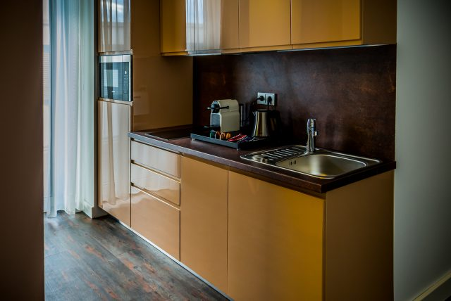 Hotel-Boardinghouse-Kreis-Residenz-Muenchen Küchenzeile