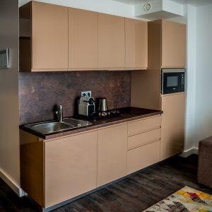 Hotel-Boardinghouse-Kreis-Residenz-Muenchen Suite Küchenzeile