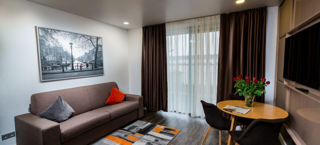 Hotel-Boardinghouse-Kreis-Residenz-Muenchen Suite Küche