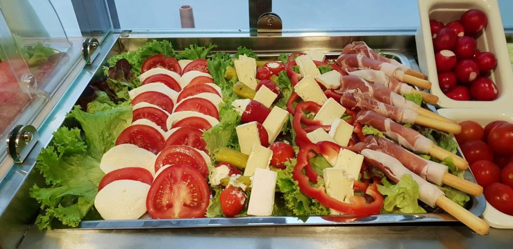Fresh caprese salad breakfast Munich
